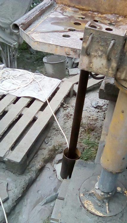 Бурение под скважину в Ленобласти Август 2017