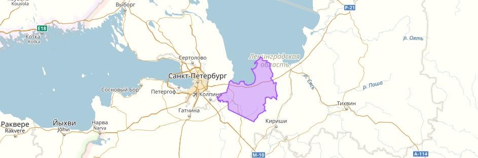 Кировский район на карте